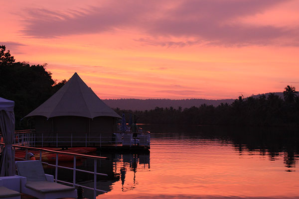 Landscapes from 4 Rivers Floating Eco-Lodge