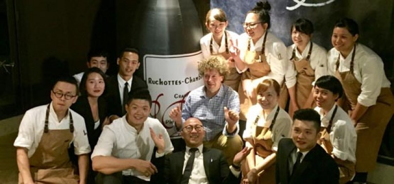 JL Studio, Taiwan, hosts exclusive dinner for French winemaker, Phillipe Pacalet, celebrated for his elegant, Burgundies within the natural wine movement.