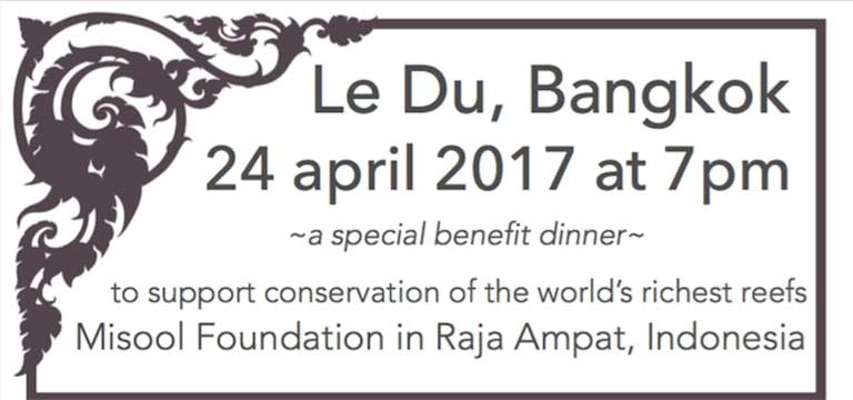Misool Foundation Benefit Dinner at Le Du