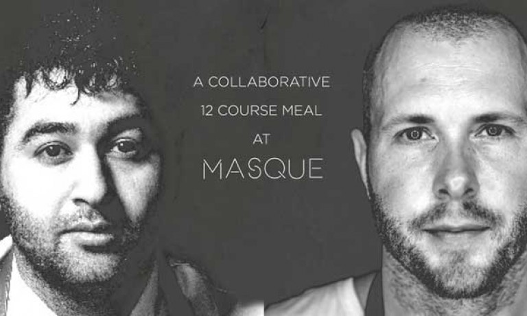 Chef Prateek Sadhu of Masque and Chicago's Michelin star chef, Mike Bagale collaborate with locally foraged ingredients over a 12 course menu